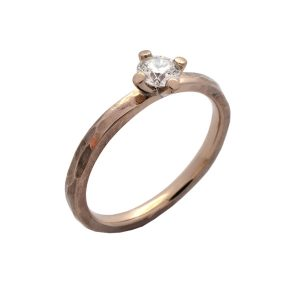 Verlobungsring in 750/... Weißgold Diamant in Krappenfassung