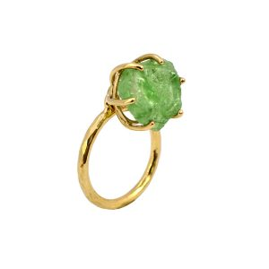Ring Gold 750/... Turmalin mit Bruchkanten in einer Kippelfassung